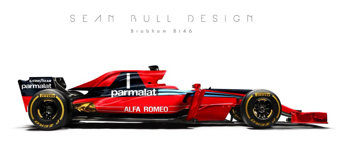 Brabham BT46 livery on current Formula One car (concept design by Sean Bull)
