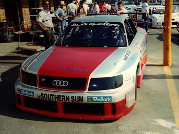The S4 GTO in the classic Audi Sport colours, Killarney 1992.