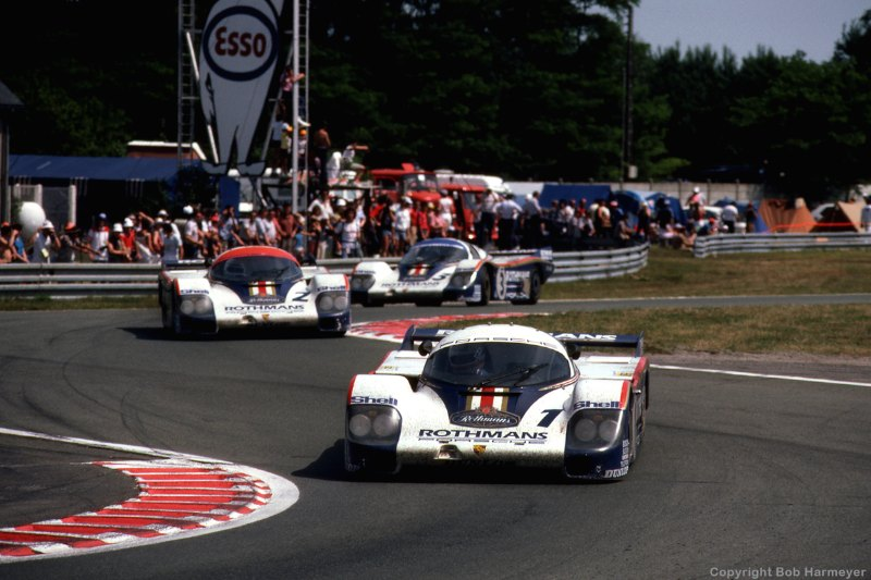 Porsche's rampaging 956 was several sizes above Rondeau's weight class.