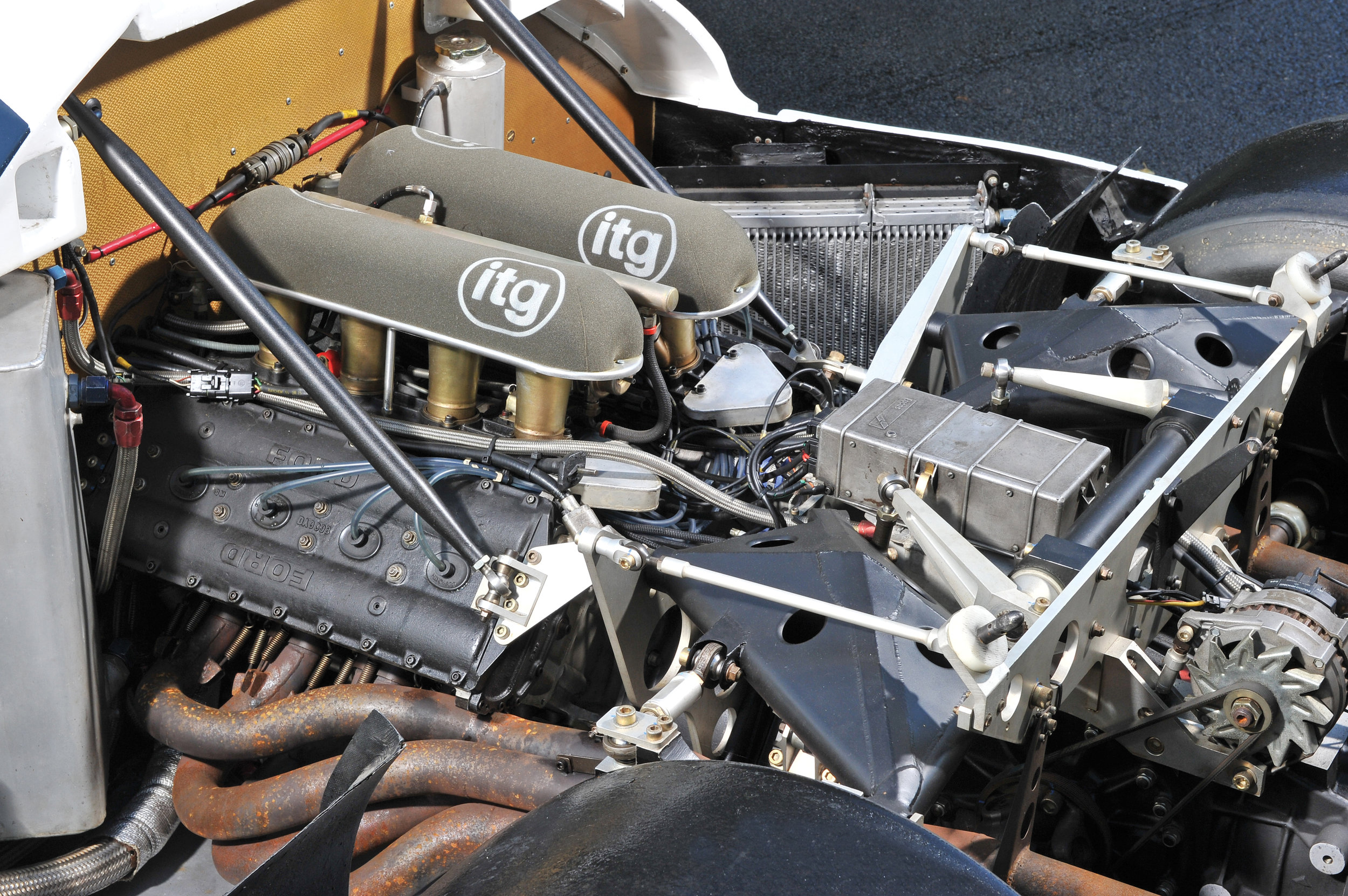 The heart of the M482, Cosworth's 3.9L long-stroke DFL.