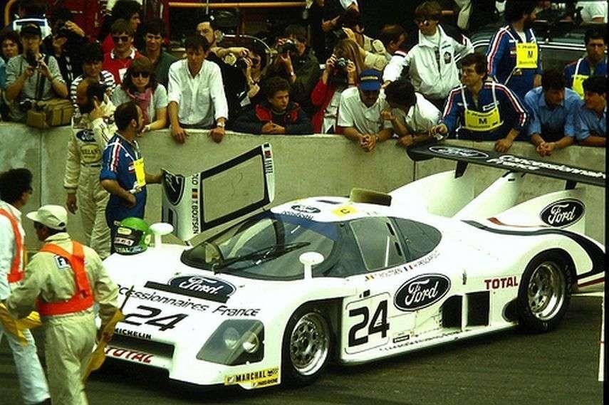 Pescarolo/Boutsen on the grid, Le Mans 1983.
