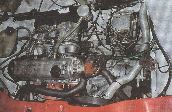 The modified 125 horsepower System Porsche engine.