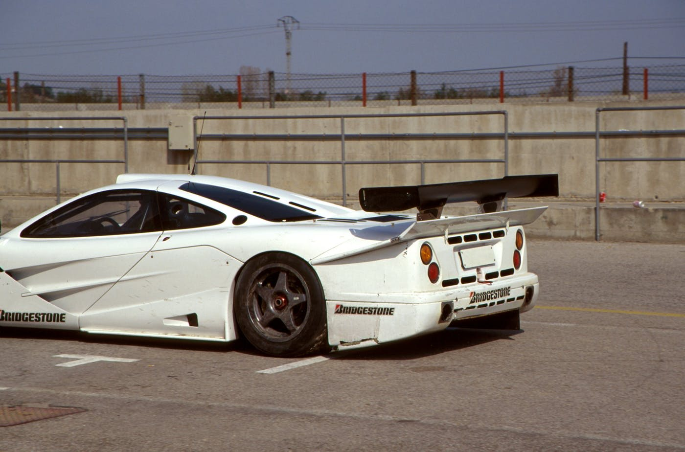 Mercedes' engineers fitted a makeshift longtail to test the CLK GTR's proposed aerodynamics.