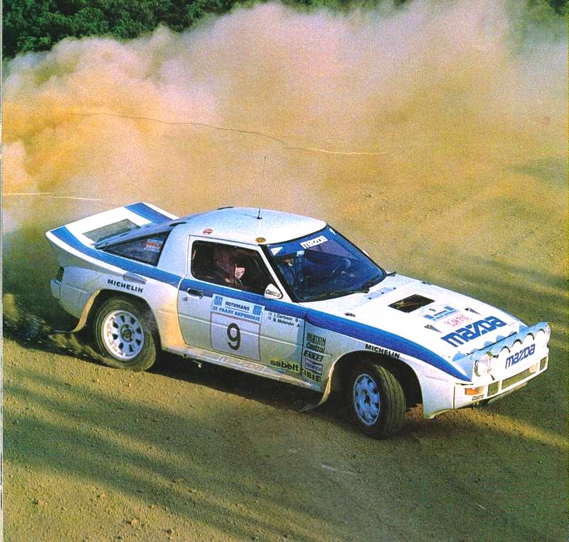 The Group B RX7 never stood a chance against its more advanced opposition.