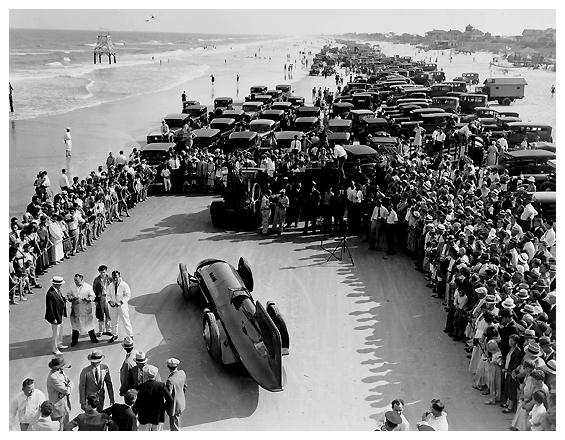 Campbell-Napier-Railton Blue Bird at Daytona Beach, 1931.