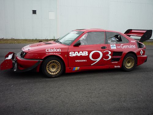 Aerodynamically the Unlimited Saab was much more outlandish than before.