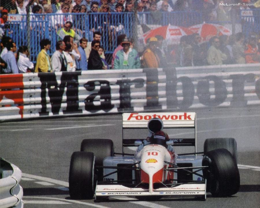 The engine for the Porsche LMP came from the disastrous Footwork-Porsche Formula One alliance.