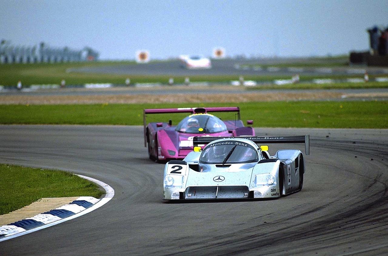 The flat-12 Mercedes-Benz C291 and V8 Jaguar XJR-14 were Peugeot's main rivals for 1991.