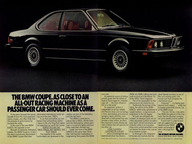 The E24 6-series was chosen as BMW's next touring car contender.