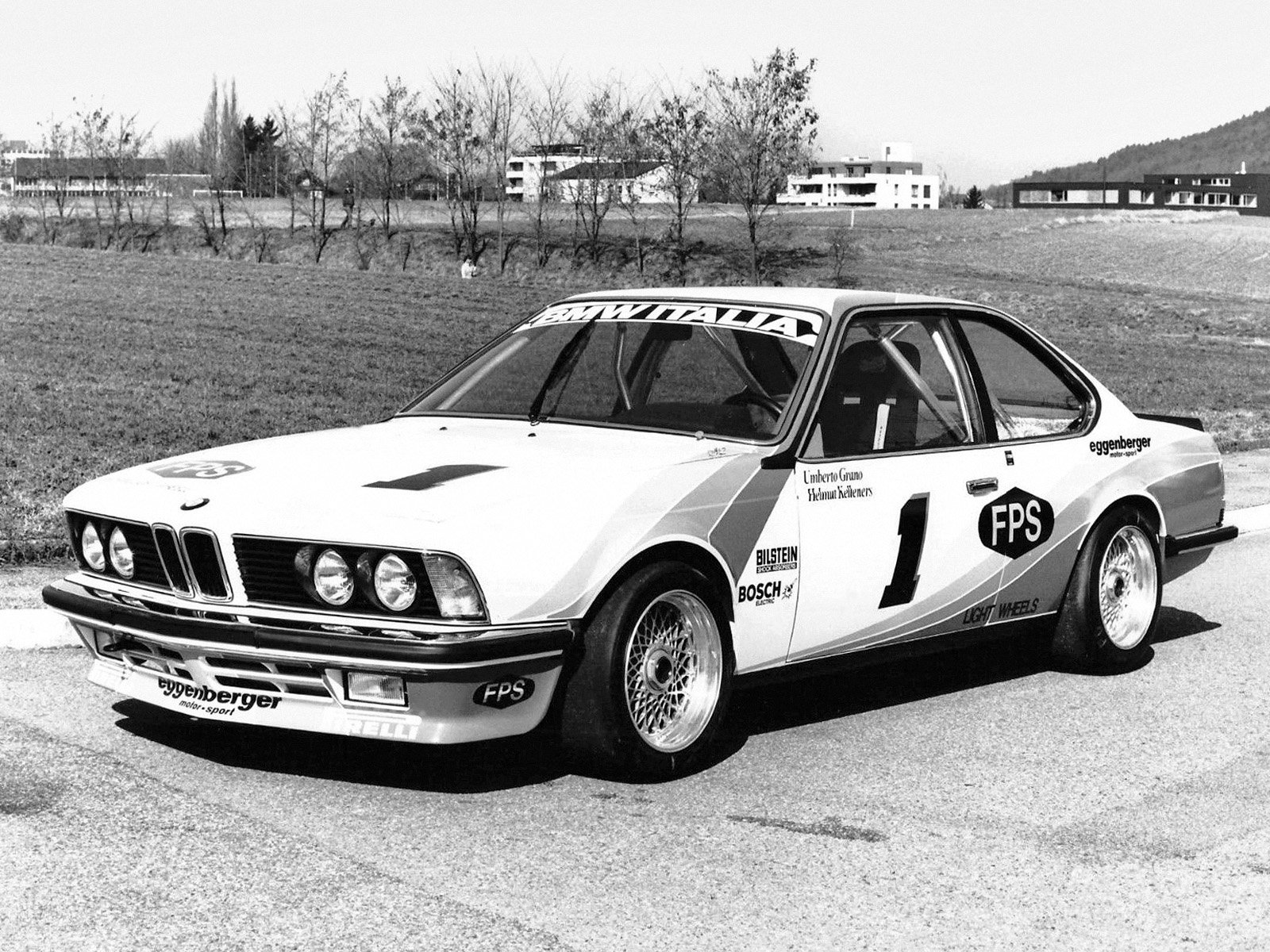 The Eggenberger Motorsport-BMW Italia 635 CSi of Helmut Kelleners and Umberto Grano shortly after completion.
