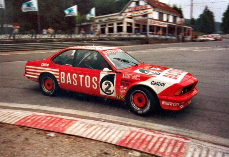 Bastos Juma BMW 635 CSi on its way to victory in the 1983 Spa 24 Hours.
