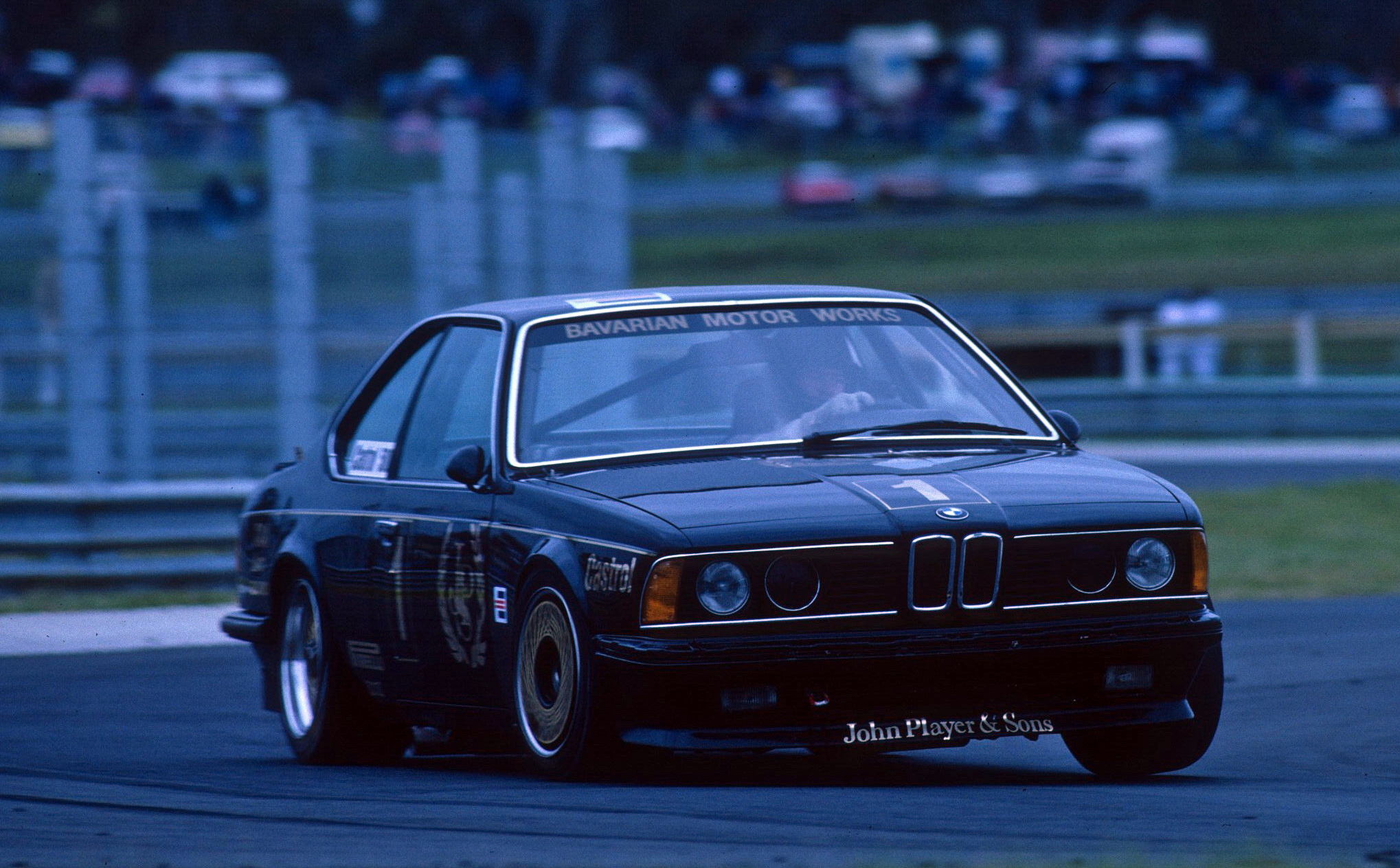 Jim Richards and Tony Longhurst took the checkered flag at the Castrol 500 endurance race, Sandown 1985.