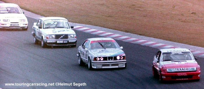 The Schnitzer BMW fought hard to secure a second title, ETCC Nürburgring 1986.