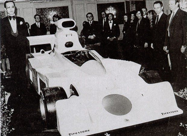 The highly formal unveiling of the Maki F101A, Carlton Towers Hotel London 1974.