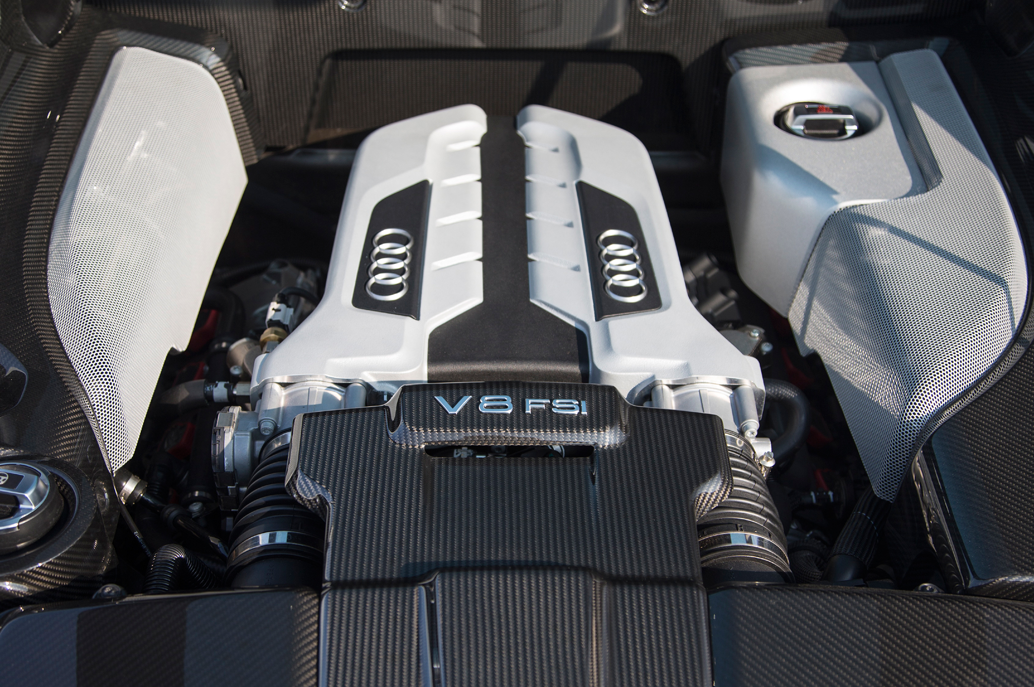 The V8 engine is the heart of the R8.