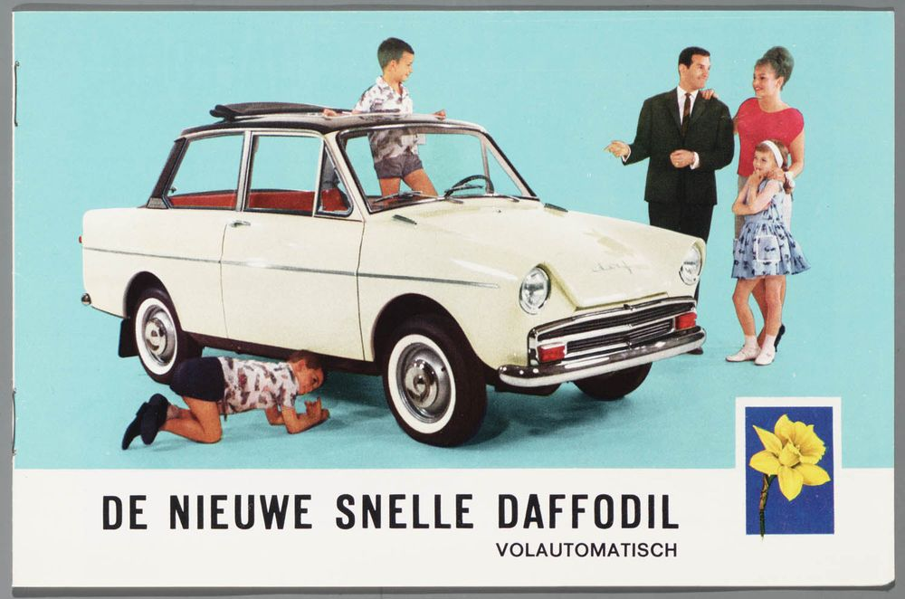 """The new fast Daffodil."" - DAF tried anything in their power to give the brand a better image."