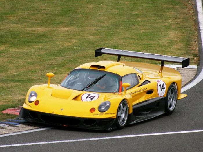 Lotus' response to the 911 GT1 was characteristically unorthodox.
