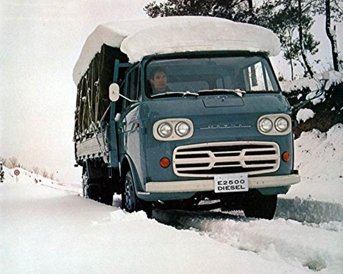 Mazda's first diesel vehicle, the 1970 E2500 truck.
