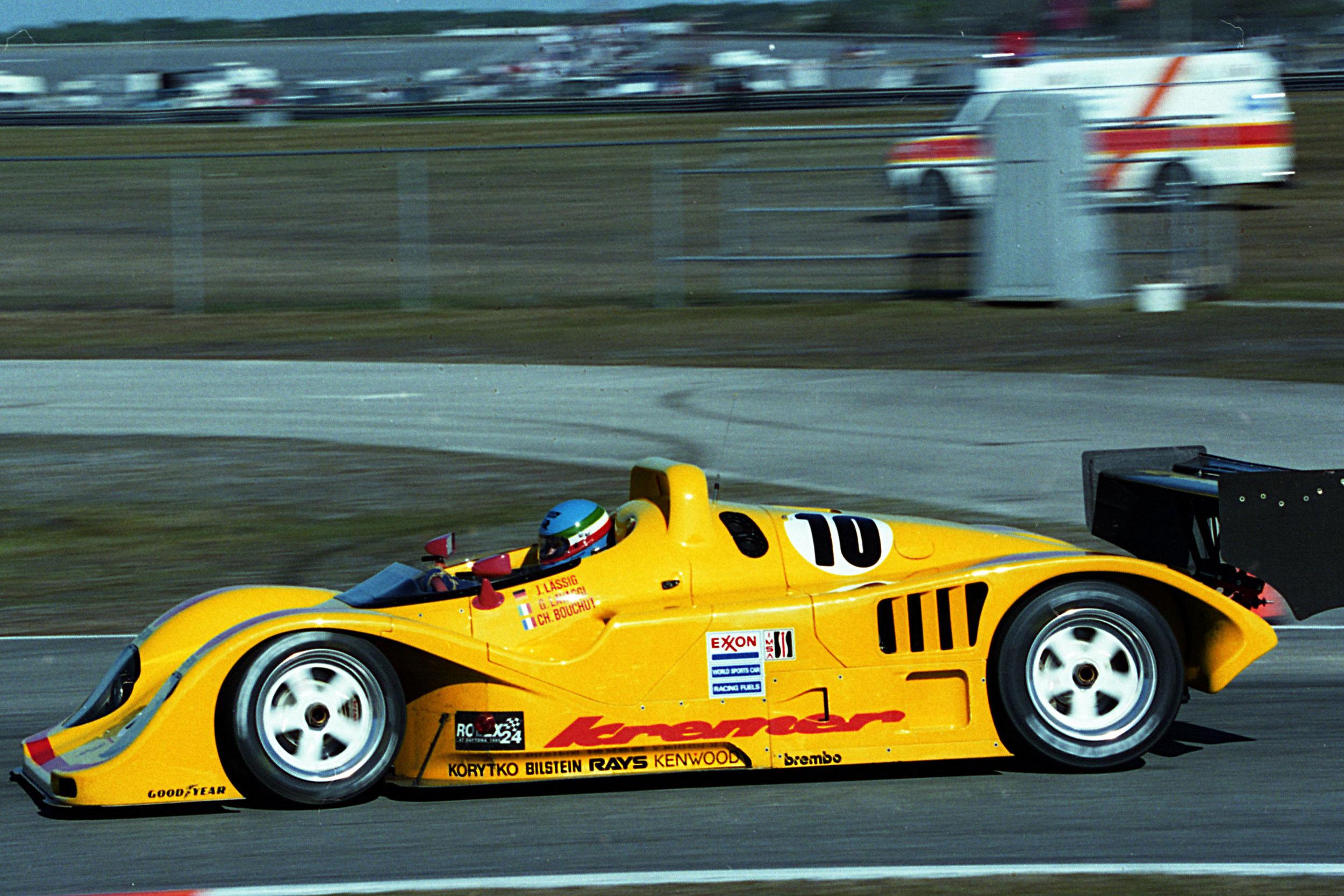 Giovanni Lavaggi on his way to the win, Daytona 1995.
