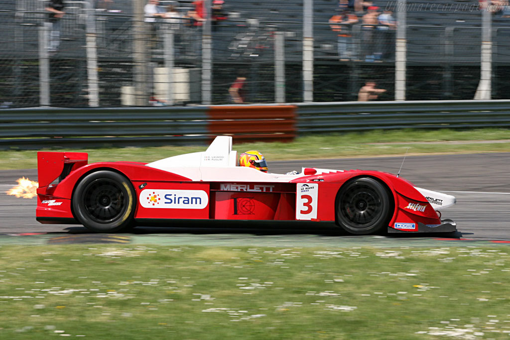 Mario Puglisi lighting up the track, Monza 2007.
