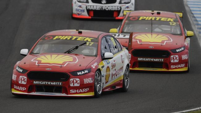 Coulthard (#12) looked increasingly like Penske's No.2 driver as the season progressed