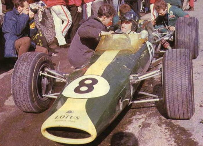 Graham Hill in the pits, Kyalami 1967.