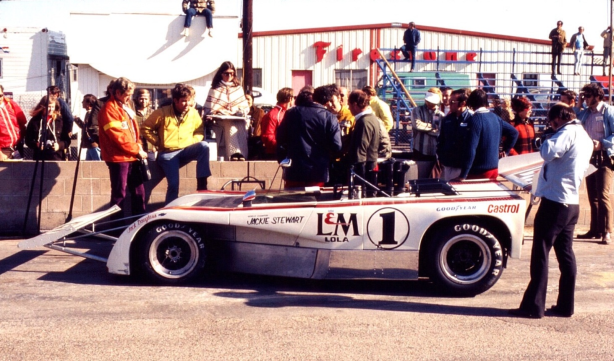 The Cowcather on the grid at Riverside, 1971.