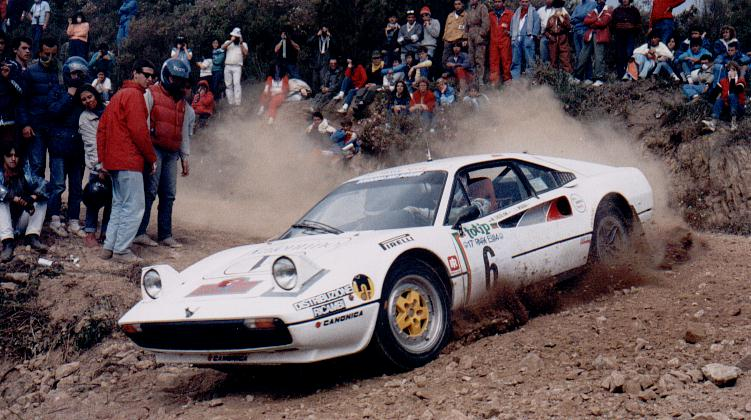 Michelotto's 308 brought supercar flair to the rally stage.