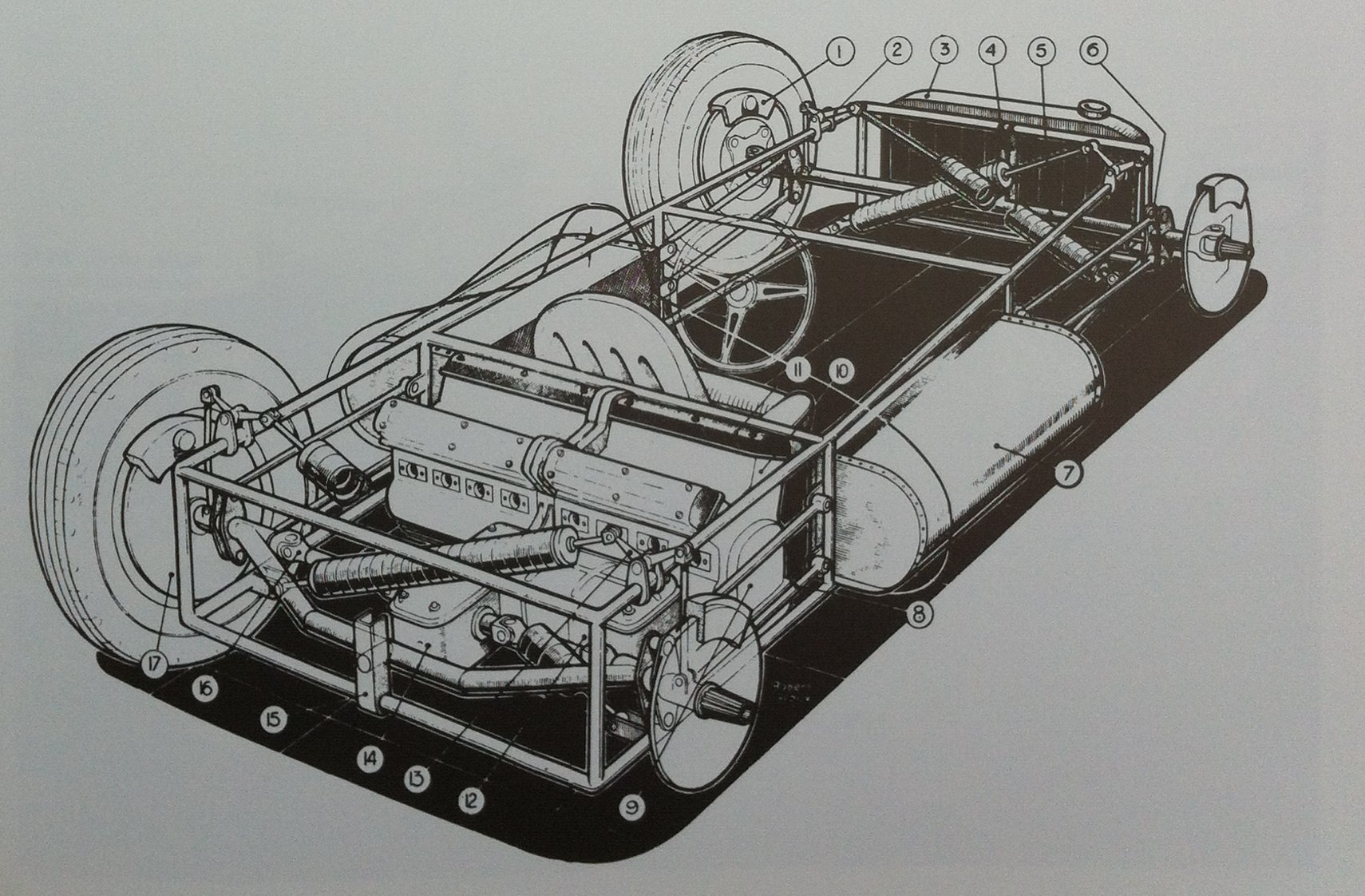 The T251's intricate drive system in detail.