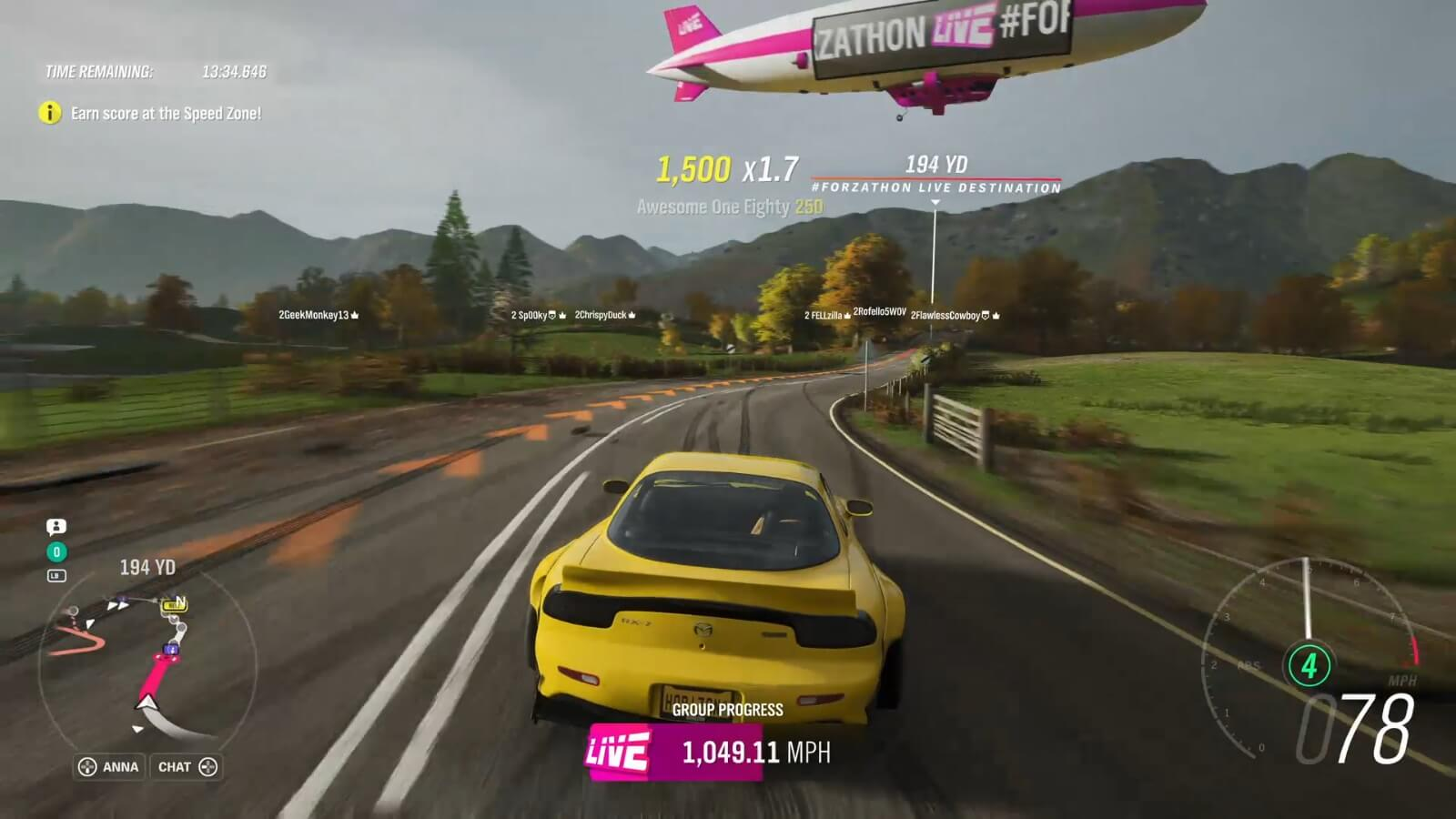 Forzathon Live: aim for the blimp and you'll be just fine