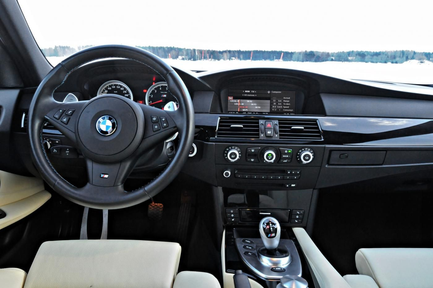 The interior does a good job of making you feel at home and comfortable in the E60.
