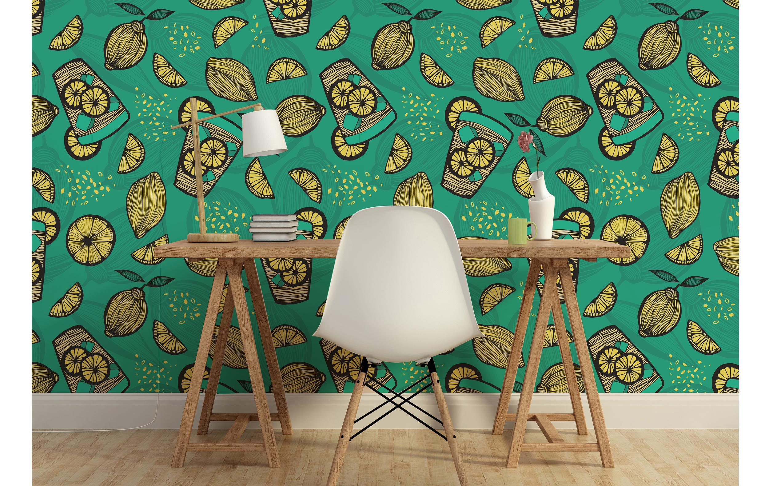 Lemon Splash Wallpaper