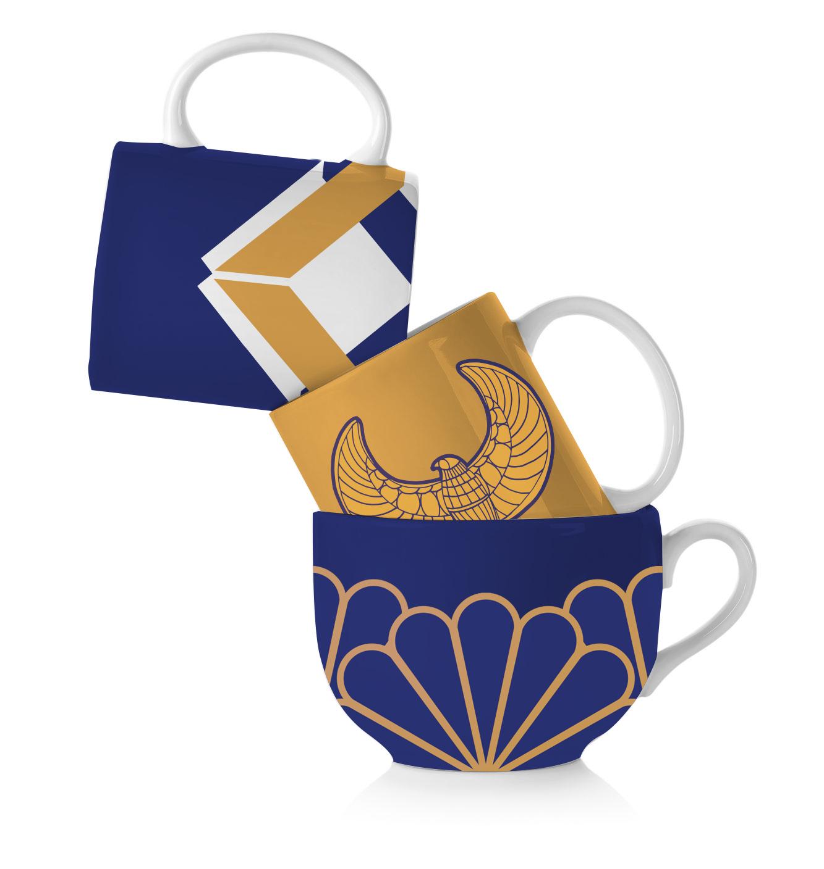 Egyptian Motif Mugs