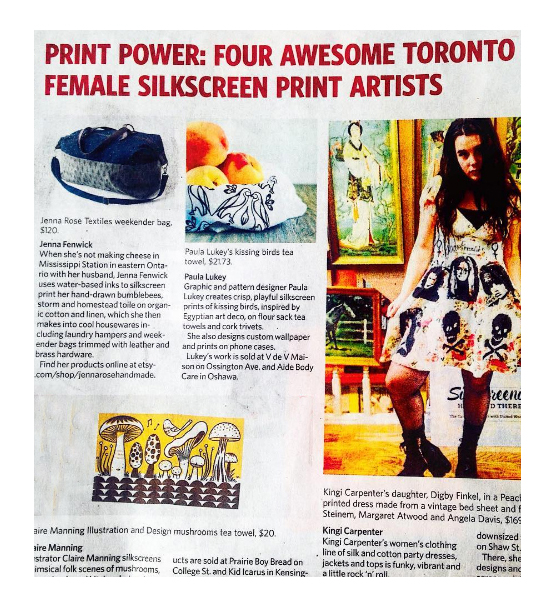 Toronto Star - January 2017 - Featured in the article: