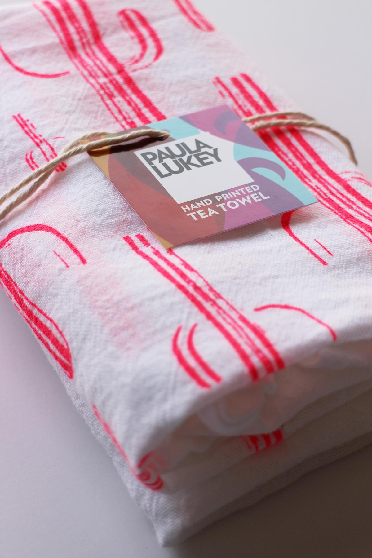 My new Saguaro Cactus Tea Towel. So Pink, so FUN!