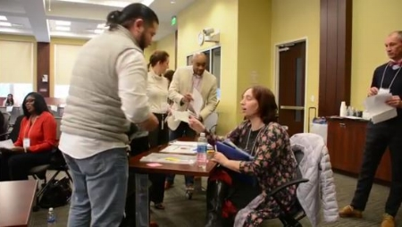 City of Columbia Employees participate in Poverty Disaster Simulation