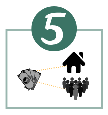 STEP 5  The CDC/CDFI uses the donation for operations or programs in the community.