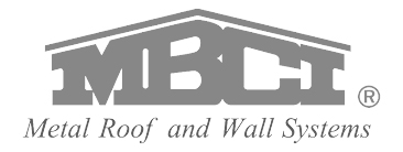 Crest Contracting and Roofing is proud to use MBCI quality products