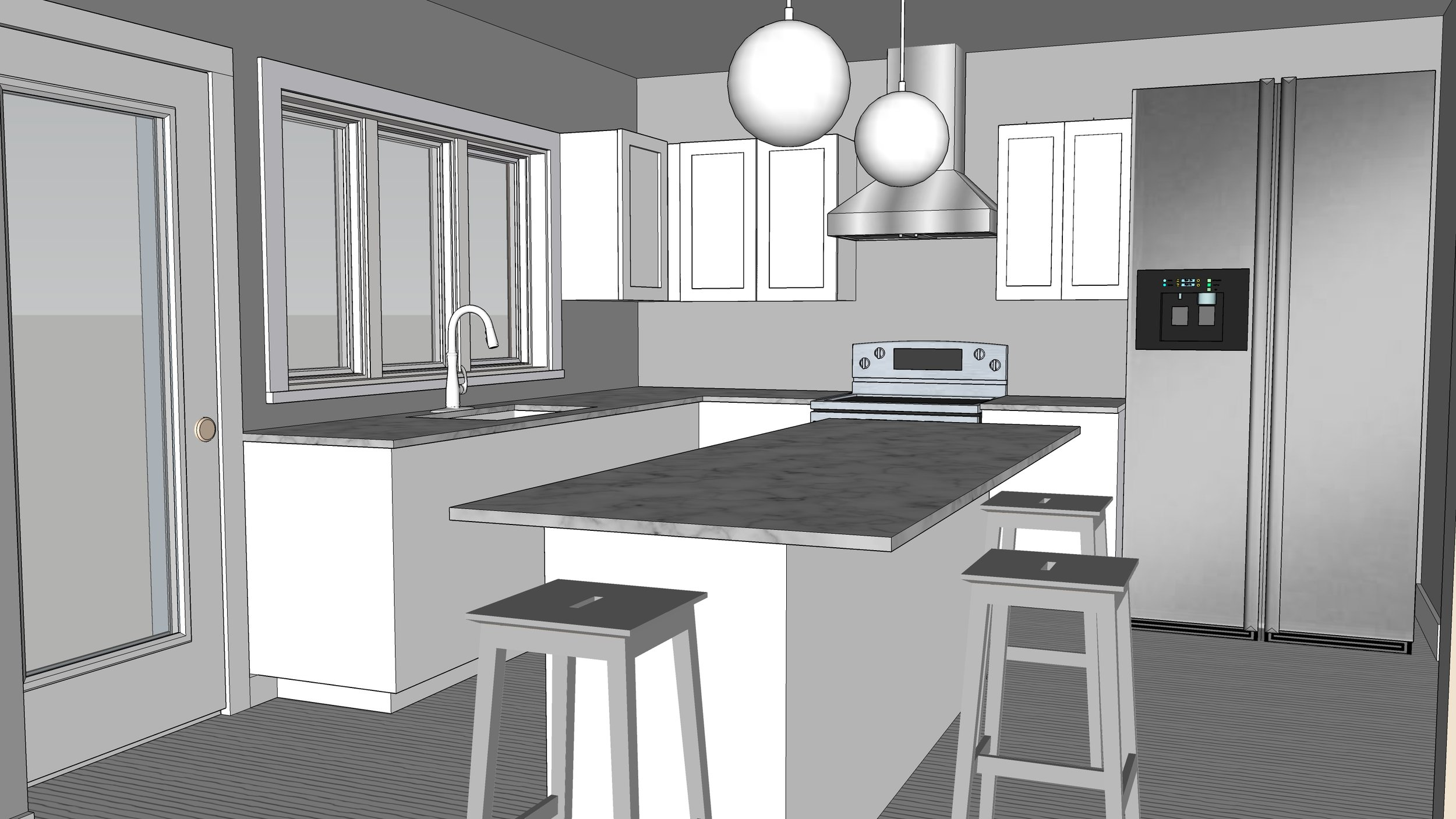By helping to determine the preferred location for the various design elements, 3D renderings are a great visual aid in the design process.