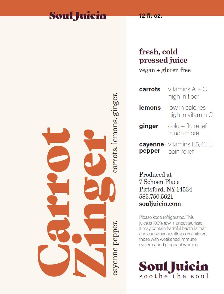 Carrot Zinger bottle label.png