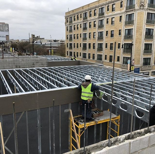 We're getting taller! Elevation Lofts is 'growing up' with state-of-the-art wall systems. These wall systems are incredibly efficient for both sound and climate insulative values. The perfect fit for city-living in a place that sees a wide range of temperatures! DM us for more information on living at Elevation Lofts.