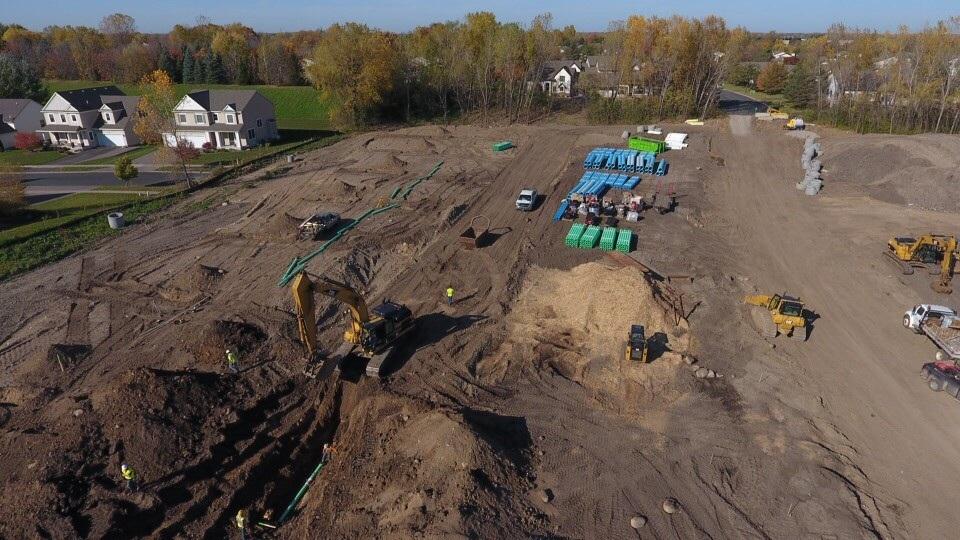 Mills Creek Soon After Groundbreak
