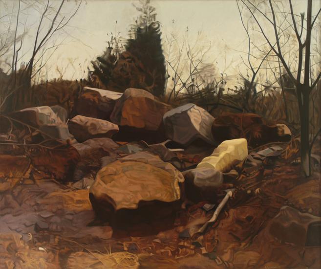 "Four Seasons - Fall ,  1975, Oil on linen, 66"" x 72"""