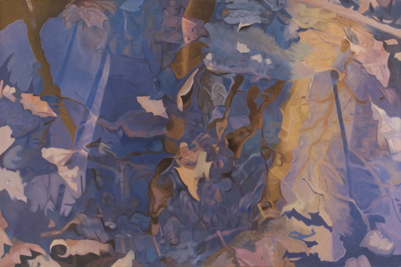 "Sparkling  , 1983, Oil on linen, 48"" x 72"""