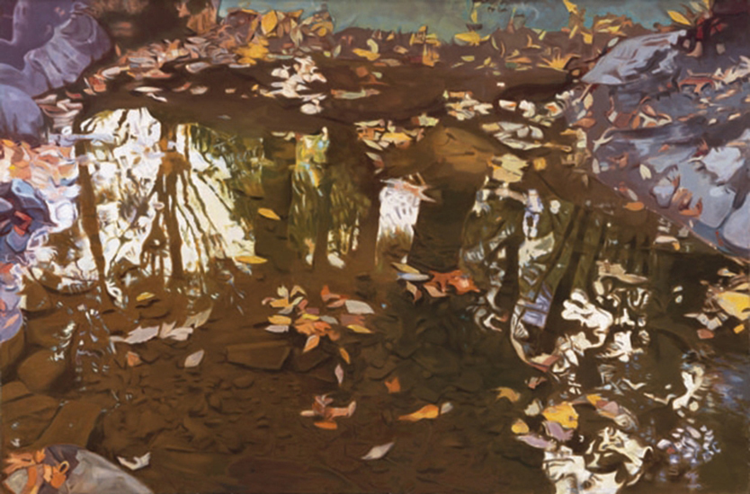 "Fall Reflections  , 1978, Oil on linen, 40"" x 60"""