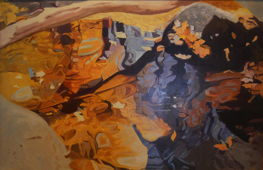 "Limb Over The Water,   1984, Oil on linen, 26"" x 40"""