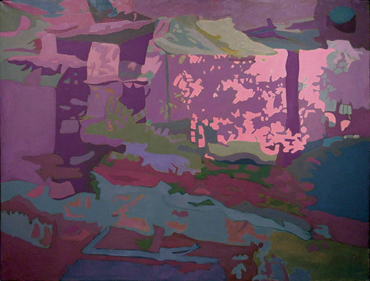 """Red Reflections  , 1992, Oil on linen, 34"""" x 45"""""""