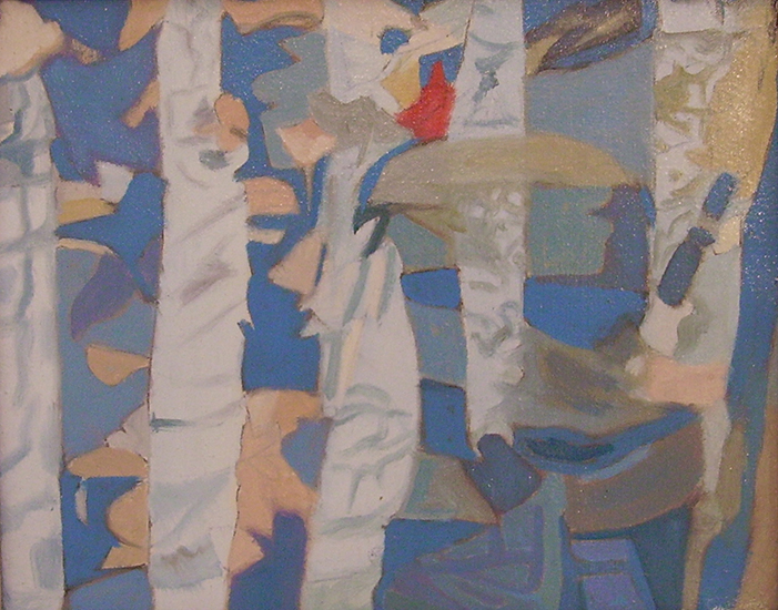 """Reflection I,   1987, Oil on linen, 8"""" x 10"""""""