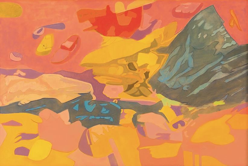 """Unbalanced  , 1988, Oil on linen, 40"""" x 60"""""""