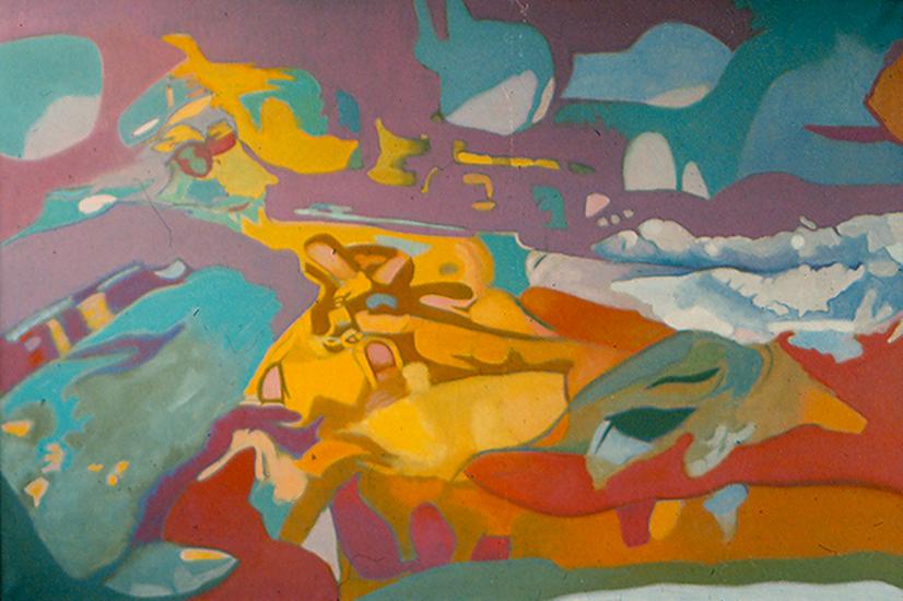 """Wandering Waves  , 1987, Oil on linen, 40"""" x 60"""""""